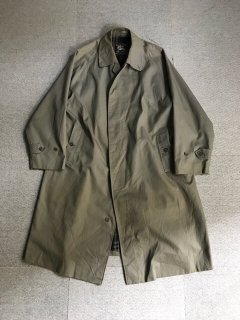 Vintage Burberry's Balmacaan Coat MADE IN ENGLAND 一枚袖 レアカラー