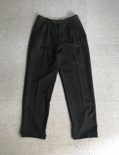 80's Vintage 2tuck slacks W30 L31 Black