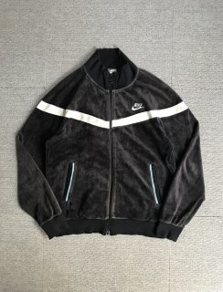 NIKE velours track jacket Black L