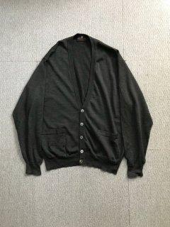 90's ATWARDSON Light Wool Cardigan charcoal
