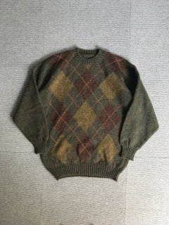 Unknown  Pure New Wool Argyle Knit MADE IN SCOTLAND 44