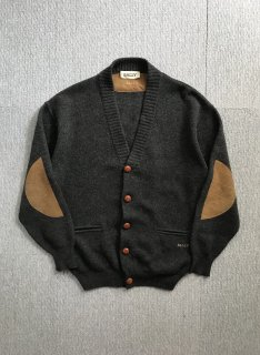 BALLY CAMELHAIR Elbow Patch Cardigan MADE IN ITALY 46