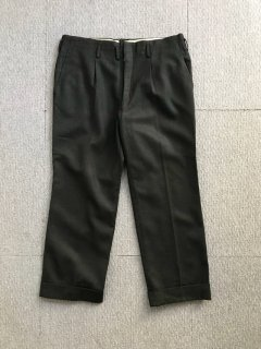 60's UNKNOW One Tuck Slacky Pants charcoal W35 L25
