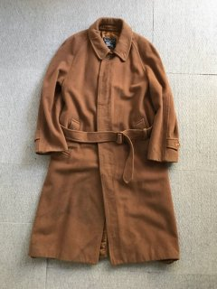 80's Burberry's Camel Hair×Wool Balmacan Coat MADE IN ENGLAND
