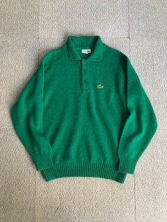 80's CHEMISE LACOSTE Knit Polo MADE IN FRANCE