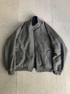80's Herringbone Wool/Cotton Reversible Blouson