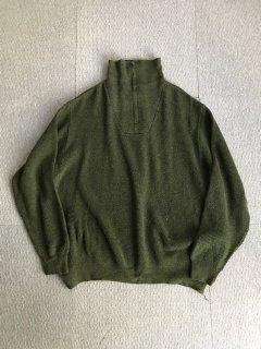 90's Half Zip-up  Wool Knit