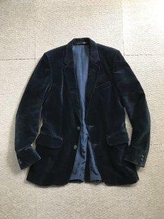 80's BURTON Velvet Tailored Jacket NAVY MADE IN ENGLAND