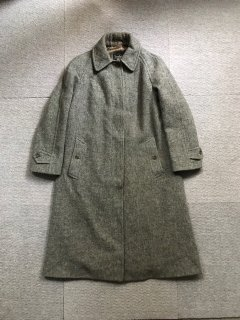 Vintage Burberrys Harris Tweed Coat MADE IN ENGLAND