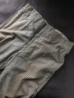 80's Unknown Cotton Check Straight Slacks Pants