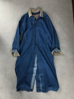 90's Levi's Denim Long Coat MEDIUM MADE IN USA