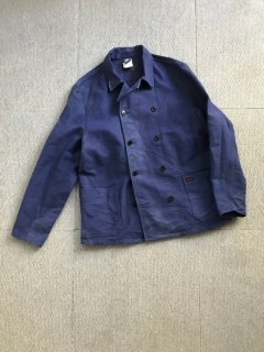80's Euro Work moleskin double Jacket INKBLUE