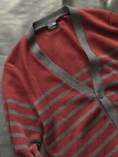 Jean Paul GAULTIER marine border Wool Cardigan