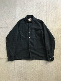 60's THE NASSAU SHOP BLACK Watch Wool L/S Shirt
