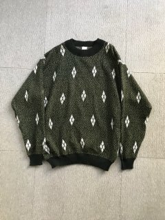 90's EOW Wool L/S Knit Pullover 52