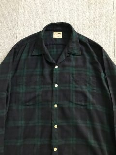 60's Viyella BLACK Watch Wool L/S Shirt 16-16 1/2