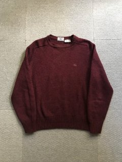 80's IZOD LACOSTE Aarylic/Wool Knit MADE IN THE BRITISH CROWN