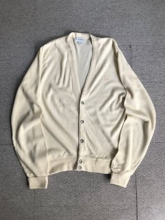70's IZOD Acryl Cardigan MADE IN U.S.A. Ivory