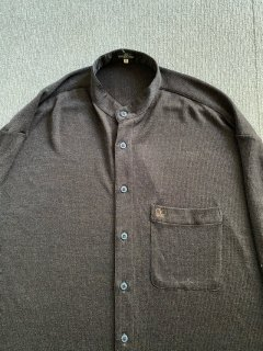 90's VALENTINO Triacetate No-collar Shirt