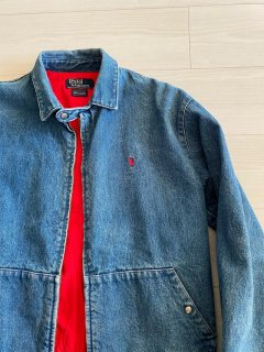 80's Polo by Ralqh Lauren Denim Drizzler Jacket MADE IN U.S.A.