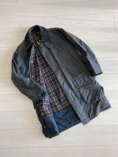 Vintge Barbour BORDER 36 Wax Cotton Jacket NAVY