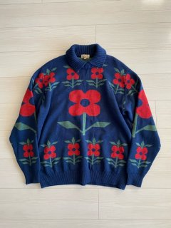 OLD HERMES Wool Knit L/S Sweater M MADE IN ITALY