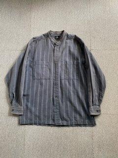90's im issey miyake Stand-up collar Cotton Shirt