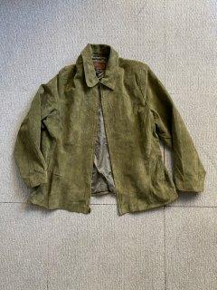 90's SIENA Suede Zip-up Jacket 蓬色