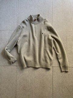 90's Polo by Ralph Lauren Cotton Half-zip Knit XL