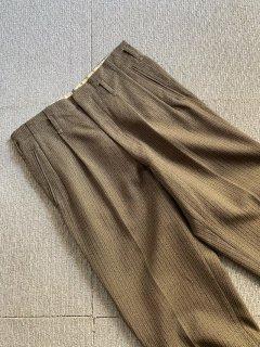 80's Vintage 2Tuck Wool Slacks W31 L29