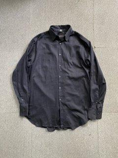 BARNEYS NEWYORK Herringbone Cotton Twill Shirt MADE IN ITALY