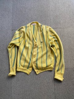 70's IZOD OF LONDON Acryl Stripe Cardigan STYLED AND MAUNFACTURED IN U.S.A.