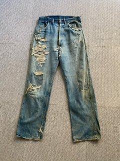 40's UNKNOW Crush Denim Pants W30 L30