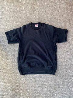 Bivouac S/S Sweat BLACK 前V ポケット付き