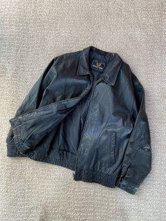 80's EXCELLENT DESIGN Zip-up Leather Jacket