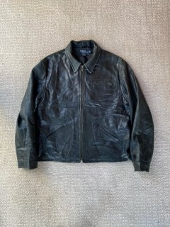 90's Polo by Ralph Lauren Zip-up Leather Jacket