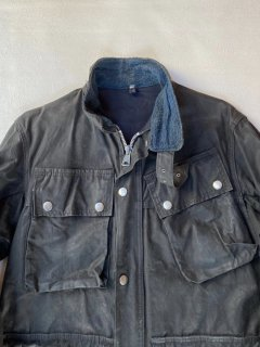 Vintage Fleathers Motorcycle Wax Cotton Jacket MADE IN ENGLAND