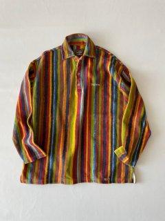 90's THIO PEPPE Cotton Stripe Polo Shirt