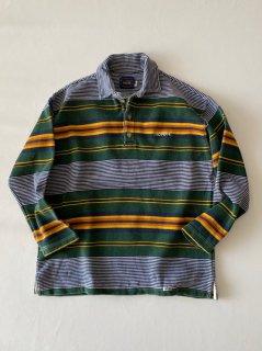 90's THIO PEPPE Cotton Border Polo Shirt