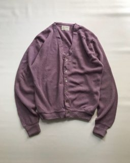 70〜80's JEFFLINKS Orlon Acrylic Cardigan MADE IN U.S.A. L LAVENDER(ラベンダー)