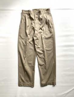 1960s French Army Chino Trousers 実寸(W36-L31)