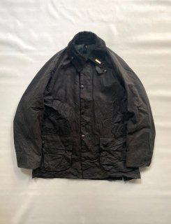 Vintage Barbour BEADALE Wax Cotton Jacket Black MADE IN ENGLAND