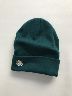 Embroidery Knit Cap GREEN