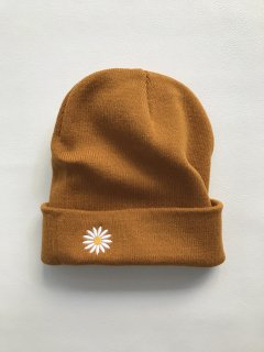 Embroidery Knit Cap MUSTERD