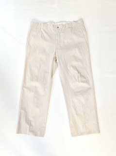 OLD HERMES Cotton Stripe Trousers (実寸W40)