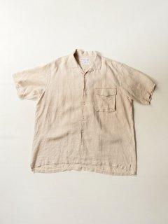 COMME des GARÇONS SHIRT Linen Stitch Design S/S Shirt MADE IN FRANCE