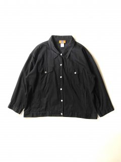 90's BACCINI Cotton Tracker Jacket Black