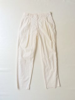 90's BAXTER Cotton-poplin 2tuck Trousers White