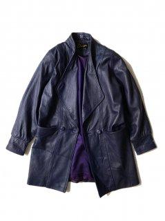 80's Dior Leather Design Coat