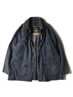 90's Barbour BEDALE Wax Cotton Jacket NAVY 42 MADE IN ENGLAND